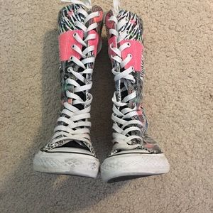 Converse all star neon patch knee high boot WOW